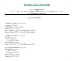 How To Write A Salary History Lettering Site