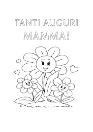 Disegno Da Colorare Per La Mamma Auguri Festa Della Mamma