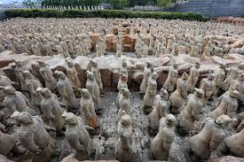 china s largest full scale replicas of the terracotta warriors attract tourists