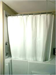 small shower rods stall rod curtain for stalls extra short curve