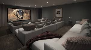 contemporary media room decorating arrangement idea. Media Room Furniture Ideas. Living Grey Fabric Endearing Home Designs Ideas Contemporary Decorating Arrangement Idea W
