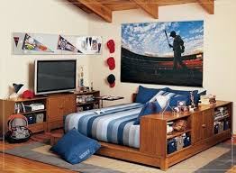 cool bedroom ideas for teenage guys homes inspiration a unique attic bedroom with laminate flooring and wooden bedding with shelves tv shelves and storage bedroomamazing bedroom awesome