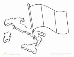 Small Picture Italian Flag Worksheet Educationcom