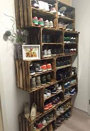 Inroom Designs Coat Hanger And Shoe Rack Use Wood Crates for a Shoe Rack Pinteres 56