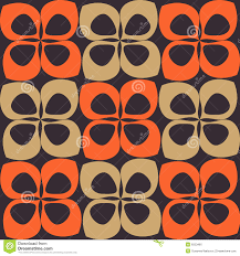 Orange And Brown Retro Pattern Stock Vector Illustration Of