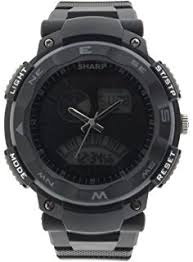 sharp watches prices. sharp men\u0027s automatic plastic and polyurethane casual watch, color:black (model: shp018 watches prices