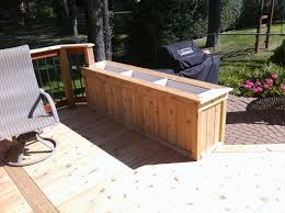 diy wood deck box. deck planter box plans diy wood o