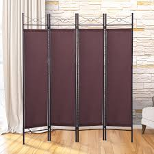 room dividers office. lazymoon 4panel steel room divider screen fabric folding partition home office privacy escpresso dividers