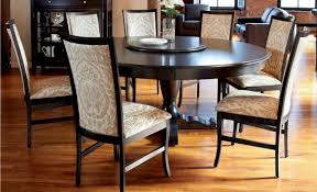 vintage dining room with 72 inch expandable round pedestal dining table fl pattern upholstered wooden