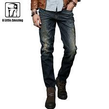 Where Can I Buy Designer Jeans For Cheap Ala Master Clothing Warm Men Designer Jeans Pants Mid Waist