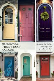 colorful painted front doors