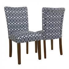 homepop bella parsons chair blue trellis set of 2 homepop