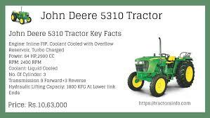 John Deere Tractor Refrigerant Capacity Chart John Deere 5310 Tractors Models Specs Review Engine Details