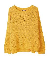 Stradivarius Womens Open Knit Cropped Sweater 1615 904