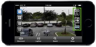 Security Camera App PTZ Zoom HD Controls View Cameras from iPhone