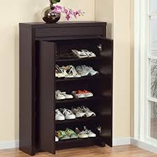 Amazon.com: Shoe Cabinet with Storage Drawer Includes Five Shelves for Your  Shoes: Home & Kitchen