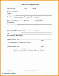 Staggering Incident Report Form Template Ideas Security Word