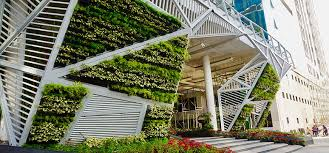 vertical garden green facade