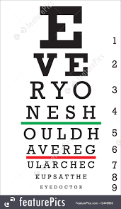 Eye Charts Used By Doctors Optometry An Eye Chart With A Hidden Message That Reads Everyone Should Have Regular Checkups At The Eye Doctor