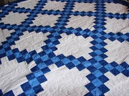 Double Irish Chain Quilt Finished - FabricMomFabricMom & My mom asked me if I had any baby quilt that she could have for a baby  shower gift for Marty's daughter. She is have a baby boy. Adamdwight.com