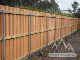 horizontal wood fence with metal posts. Unique Horizontal In Horizontal Wood Fence With Metal Posts F