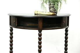 half round hall table large size of round console table with inspiring half round hall table