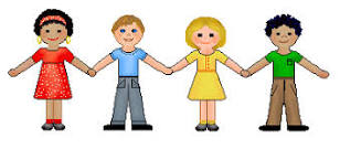 Cartoon Children Holding Hands