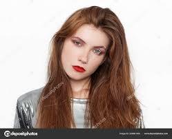 Headshot Mladé Krásné Vzrušená žena Nádhernou Přírodní Zrzavé Vlasy