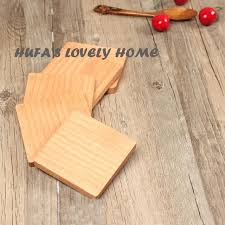 non slip woodworking mat awesome 1 5 square beech wood coasters cup bowl pad coffee tea