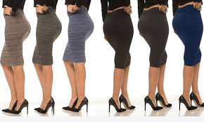 Coco Limon Womens Fleece Lined Pencil Skirts 6 Pack