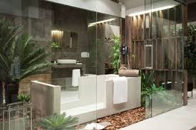 creative of eco friendly bathroom design ideas and bathroom grey stone wall decor white tub shower eco bathroom