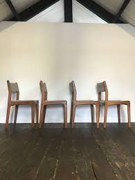 mid century danish teak dining chairs by eric buch for findahls møbelfabrik set of 4