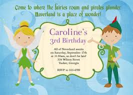 Tinkerbell Invitations Printable Peter Pan Birthday Party Invitations Free Invitation