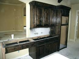 dark stained kitchen cabinets. Staining Over Stain Dark Stained Wood Kitchen Cabinets Gray Cabinet . A