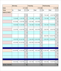 work time schedule template employee schedule template 5 free word excel pdf documents