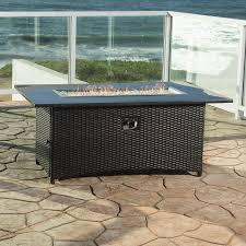 rst brands 58in w 55000btu wicker liquid propane fire table wicker fire pit d32
