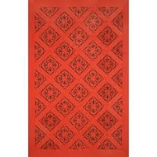 vassar tropical blue red indoor outdoor area rug etchings ironwork x by