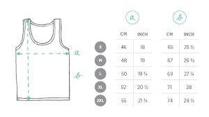 Tank Top Size Chart Men Fashion Size Guide Juniqe