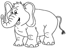 Small Picture Smiling Elephant Coloring Page NetArt