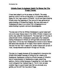 othello essay is jealousy solely to blame for the tragic events  page 1 zoom in