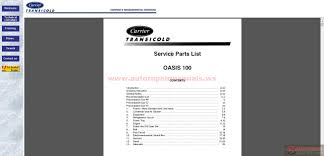 carrier transicold intranet 1999 cd training parts catalogue