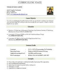 Standard Resume Format For Freshers Download Resume Format Write