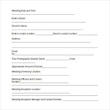 Wedding Photography Contract Template 14 Download Free Documents
