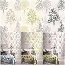 Image is loading ARTHOUSE-DIAMOND-TREE-WALLPAPER -TEXTURED-GLITTER-GREEN-MONO-