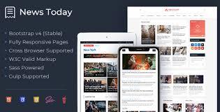 Newstoday Responsive Modern Newspaper And Magazine Html5 Template