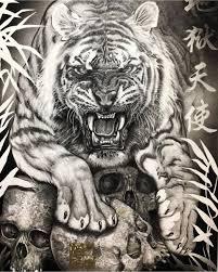 эскизы тигров значение татуировки с тигром Lion Tigro