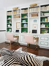 Pink Black White Office Black 5 Dreamy Home Office Makeovers To Inspire Your Best Work Blog Design InspirationPink BlackBlack And WhiteGreen Pink Black White