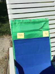 Blue And Green Pocket Chart Velcro
