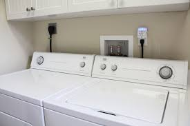 washer and dryer outlet. Unique And Washer And Dryer In A Utility Room With Standard Dual Outlet LintAlert In And LintAlert Safety Alarm