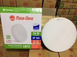 Đèn LED ốp trần tròn 24W đế nhôm Rạng Đông (LN12 300/24W)